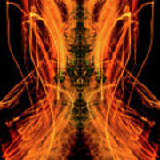 10658 Summer Fire Mask 58 - Dance Of The Fire Queen Poster