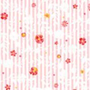 Summer Garden Floral Pattern Poster