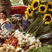 Summer Market In Provence Poster