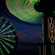 Summer Nights Fair Lights Poster