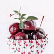 Summer Red Cherries Poster