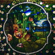 Summer Stained Glass Panel Poster