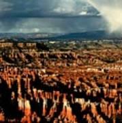 Summer Storm At Bryce Canyon National Park Poster