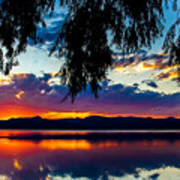 Sunset At Agency Lake, Oregon Poster