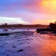Summer Sunset At Low Tide Poster