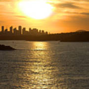 Summer Sunset In Sydney Poster
