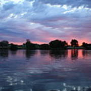Summer Sunset On Yakima River 4 Poster