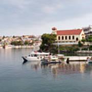 summer vacation scene Neos Marmaras Greece Poster