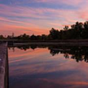 Summit Lake Reflected Sunset   Poster