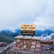 Summit Of Mount Evans Poster