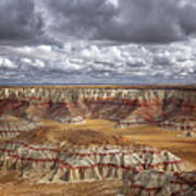 Sun Breaks And Passing Clouds Over Arizona's Remote Ha Ho No Geh Canyon. Poster