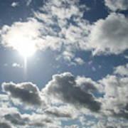 Sun Clouds Poster