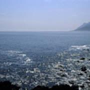 Sun Glints Off Te Ocean Near Cape Poster