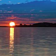 Sun Is Setting Over Port Hood Island Poster