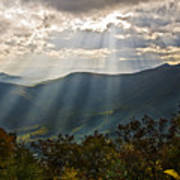 Sun Rays Linville Falls Nc Poster