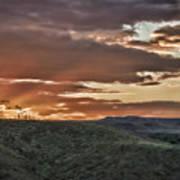 Sun Rays On Colorado Sage Poster
