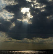 Sun Rays Pierce Through Clouds And Rest Poster