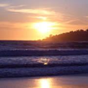 Sun set in Carmel Poster