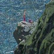 Sunbathers Cornwall Poster
