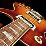 Sunburst Electric Guitar Poster