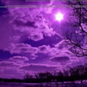Sunburst In Violet Poster