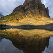 Sunburst Peak Reflection Poster