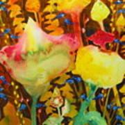 Sundae Flower Cone Poster