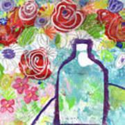 Sunday Market Flowers 2- Art By Linda Woods Poster