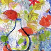Sunday Market Flowers- Art By Linda Woods Poster