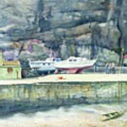 Sunday Morning Dysart Harbour Poster