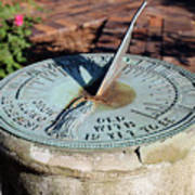Sundial At Benjamin Harrison Home, Indianapolis, Indiana Poster
