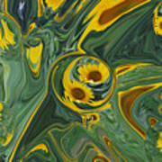 Sunflower Abstract Poster by Michelle  BarlondSmith