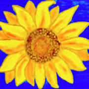 Sunflower, Acrylic Painting Poster