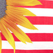 Sunflower Flag Poster