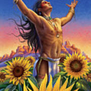 Sunflower - Glorious Success Poster by Anne Wertheim