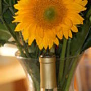 Sunflower In A Bottle Or Is It  Vase. Poster