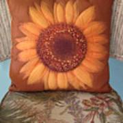 Sunflower Pillow Poster