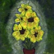Sunflower Season - Www.jennifer-d-art.com Poster