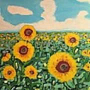 Sunflower Serendipity Poster