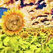 Sunflower Storm Poster