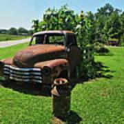 Sunflower Truck Poster