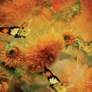Sunflowers Poster by Carol Cavalaris