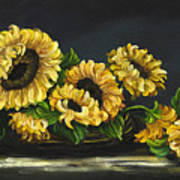 Sunflowers From The Garden Poster
