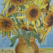 Sunflowers II. Poster