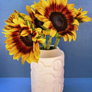 Sunflowers In Circle Vase Tournesols Poster