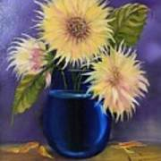 Sunflowers In Vase Poster