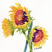 Sunflowers On White Poster