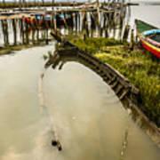 Sunken Fishing Boat Poster