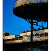 Sunlit Pier Poster