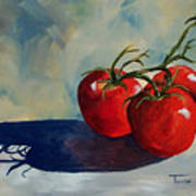 Sunlit Tomatoes  Poster